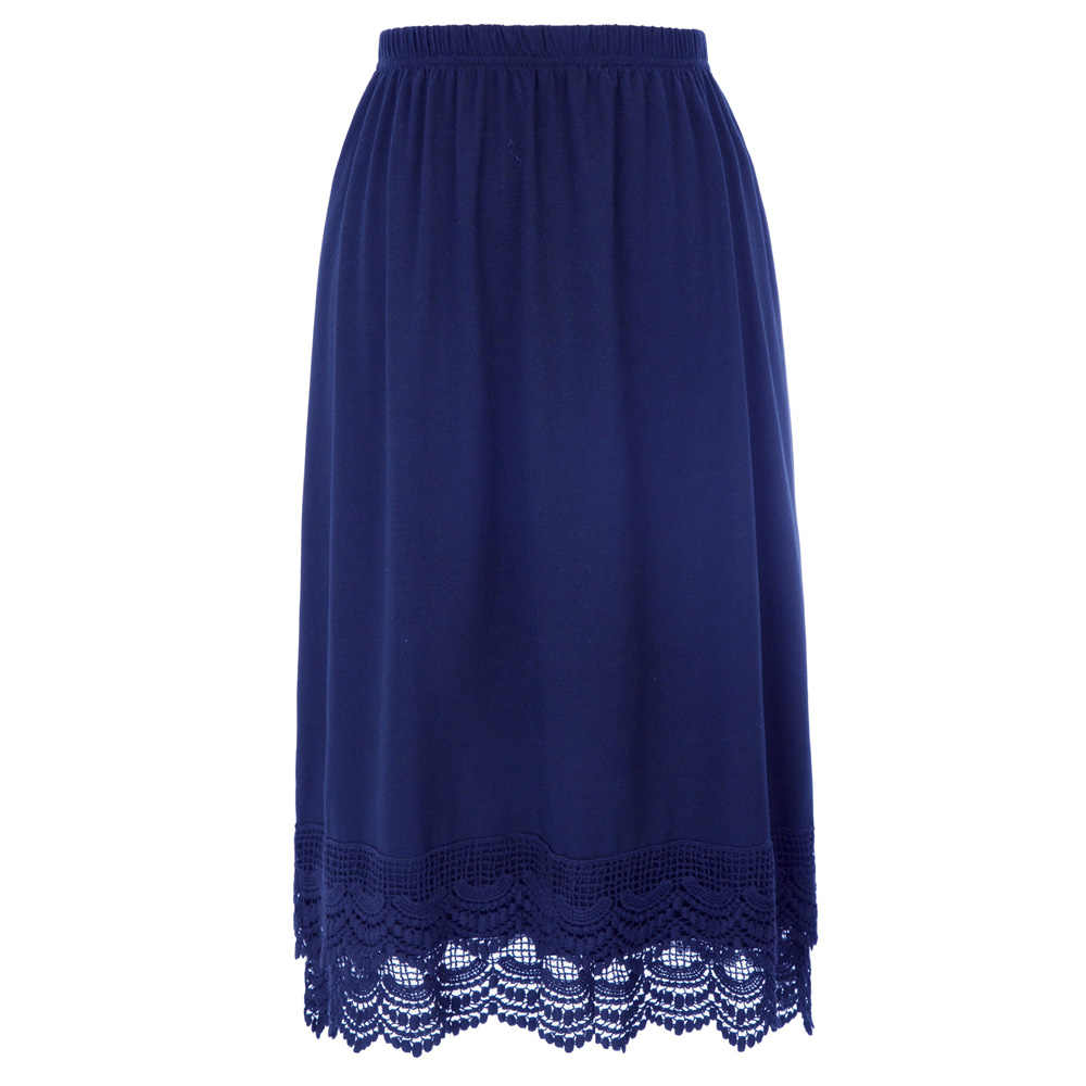 GRACE KARIN Womens Comfortable Half Slip Elastic Waist Lace Trim Cotton Skirt Dress Extender Underskirt