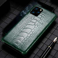 Genuine Ostrich Foot Leather phone case For Apple iPhone 11 11Pro 11 Pro MAX X XS XSmax XR 6 6s 8 7 Plus 5 SE 5S Luxury Cover