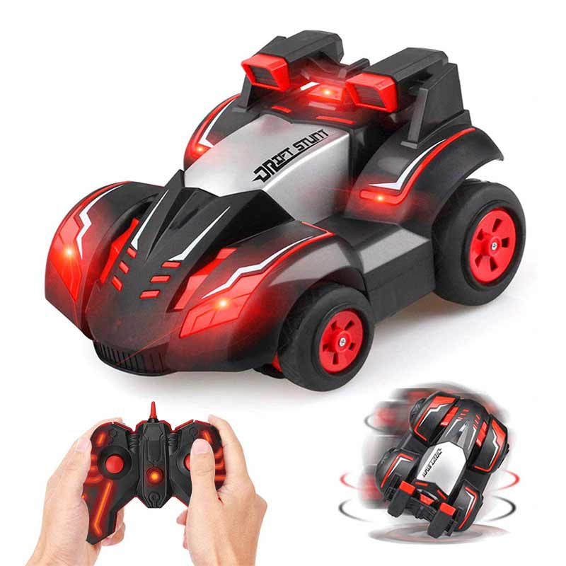 Stunt Remote Control Car RC Four-Wheel Stunt Toy Car 360 Degree Spinning Rolling Rotating Cars Kids Vehicle Toys Boys Girls Gift