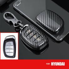 Углеродное волокно из АБС-пластика, автомобильные аксессуары, брелок чехол держатель для HYUNDAI Tucson i10 i20 i40 IX25 IX35 Elantra Sonata Ioniq сумка для ключей