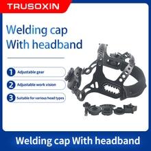 Solar Auto Darkening Welder Mask Accessories Square Hole Welding Wearing Helmet Headband