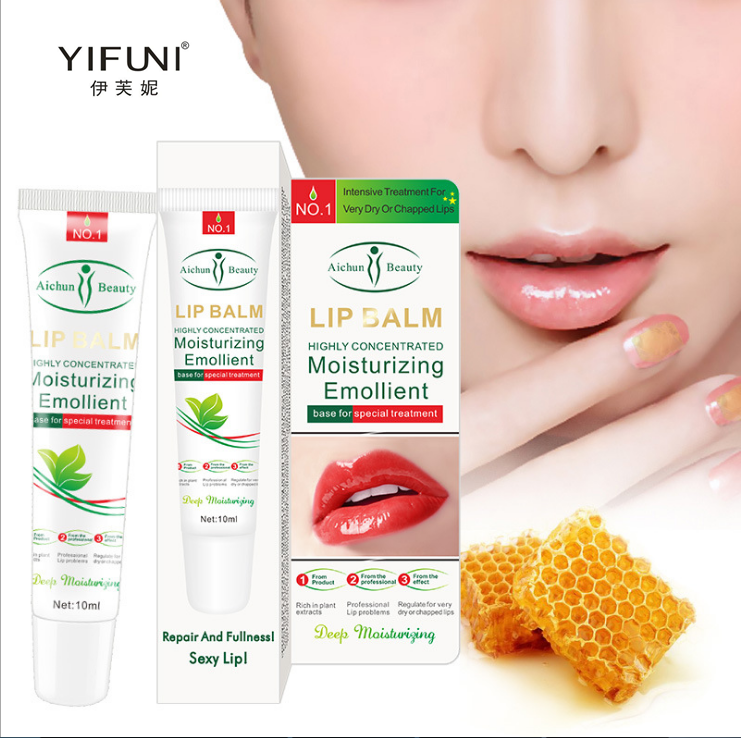Honey Lip Balm Moisturizing Emollient Repair Treatment Dry <font><b>Chapped</b></font> Lips Remove Dead Skin <font><b>Sexy</b></font> Lip Care Colorless Lipstick image