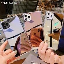 Роскошный прозрачный чехол для телефона с зеркалом макияжа iphone