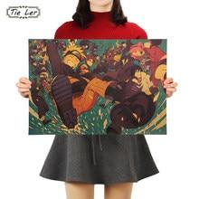 Desenhos animados retro personagem cartaz de papel de parede decoração da arte da parede interior