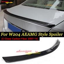 For Mercedes benz W204 Spoiler AEAMG-Style Carbon Fiber Trunk Spoiler Car Wing W204 C180 C200 C250 C280 C300 C320 Spoiler 07-13 стоимость
