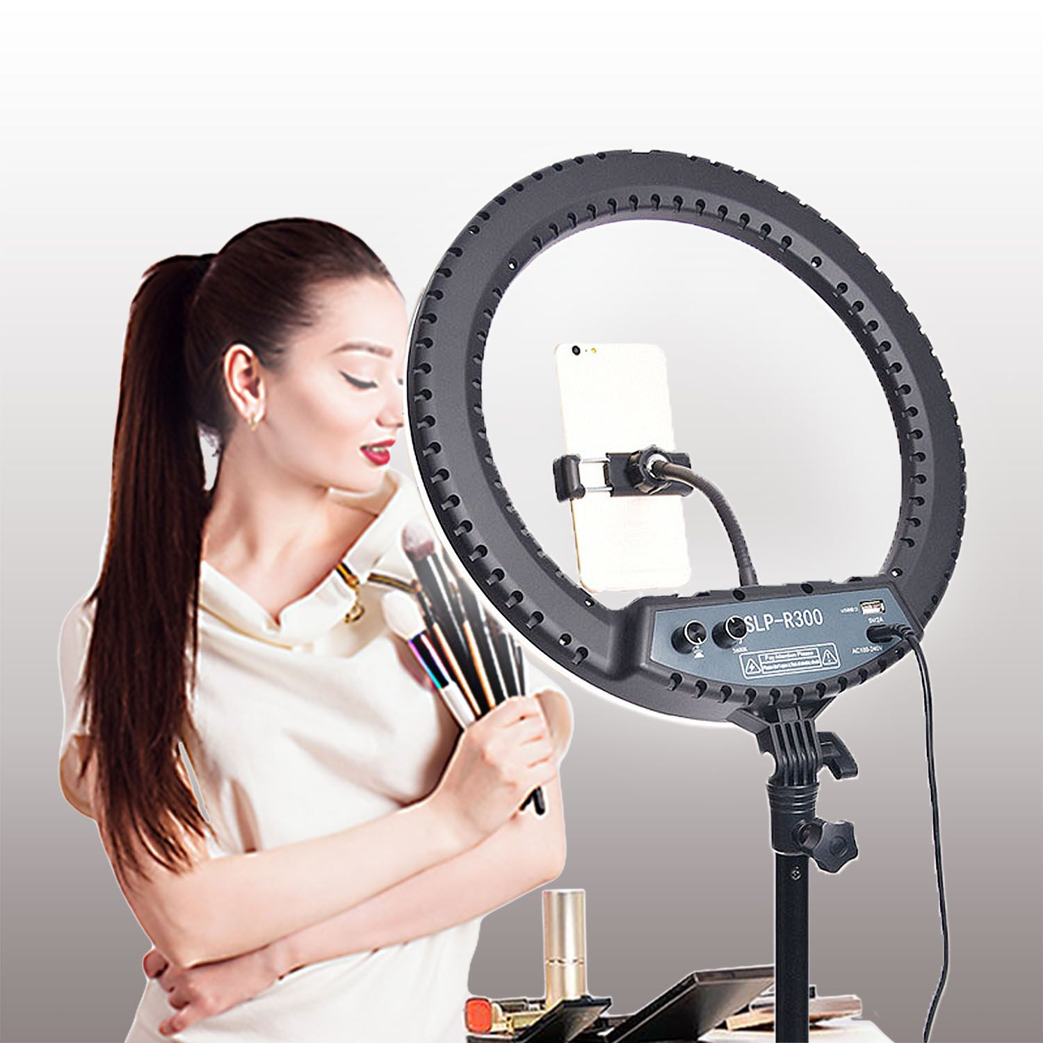 H5d44f780a8274a4899d0c1e92b79e8caK fosoto LED Ring Light Selfie Photo Photography Lighting Ringlight lamp With Tripod Stand For Photo Studio Makeup Video Live Show