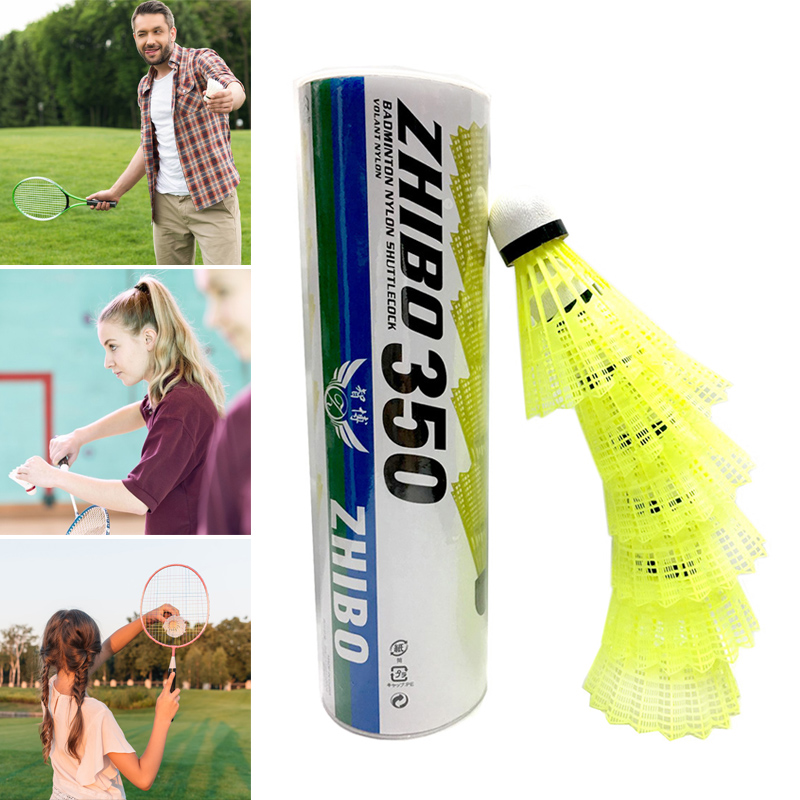 Nylon Badminton Shuttlecocks With Great Stability Durability Indoor Outdoor Sports Training Balls PR Sale
