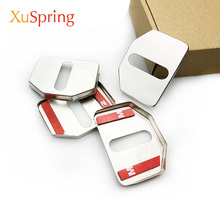 Door Lock Cover Caps Protective Car-styling Stainless Steel 4pcs/kit For Volvo V40 V60 V90 S40 S80 S90 XC40 XC60 XC70 XC90 C30 стоимость