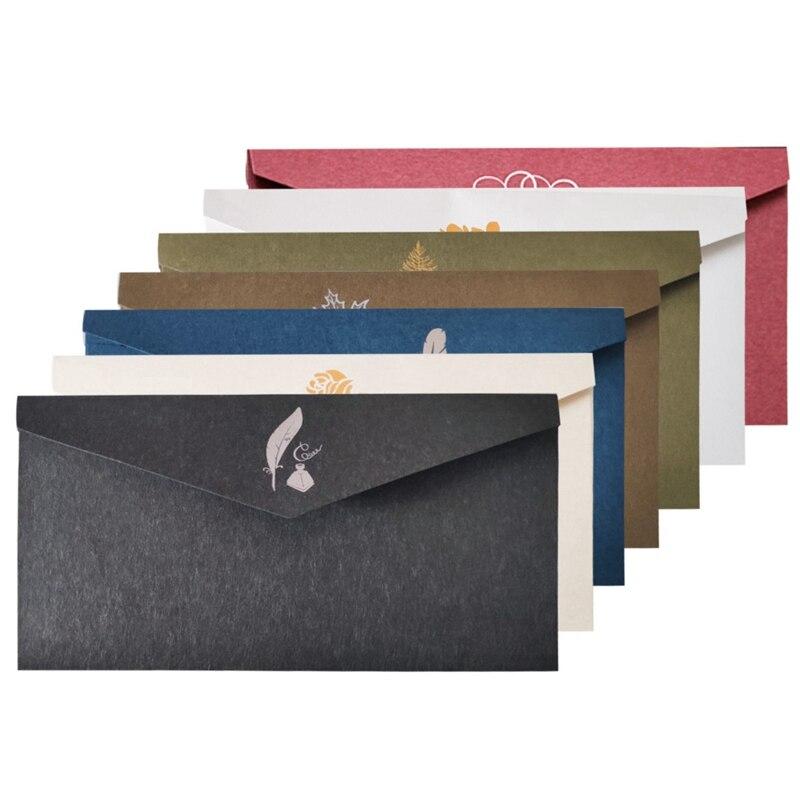 1Pcs Hot Sale Vintage Style  Printing Kraft Paper Envelopes School Supplies Envelope For Wedding Letter Invitation
