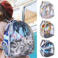 Cat Carrier Bag Breathable Transparent Puppy Cat Backpack Astronaut Cats Box Cage Small Dog Pet Travel Carrier Handbag Space