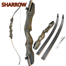 цена на 62 Recurve Bow Takedown 18-40lbs Traditional Wooden Riser Right Hand Longbow For Beginner Adult Hunting Shooting Target Archery