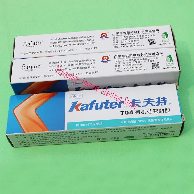 New  45g Kafuter Silicone Industrial Adhesive 704 RTV Silicone Rubber White Glue