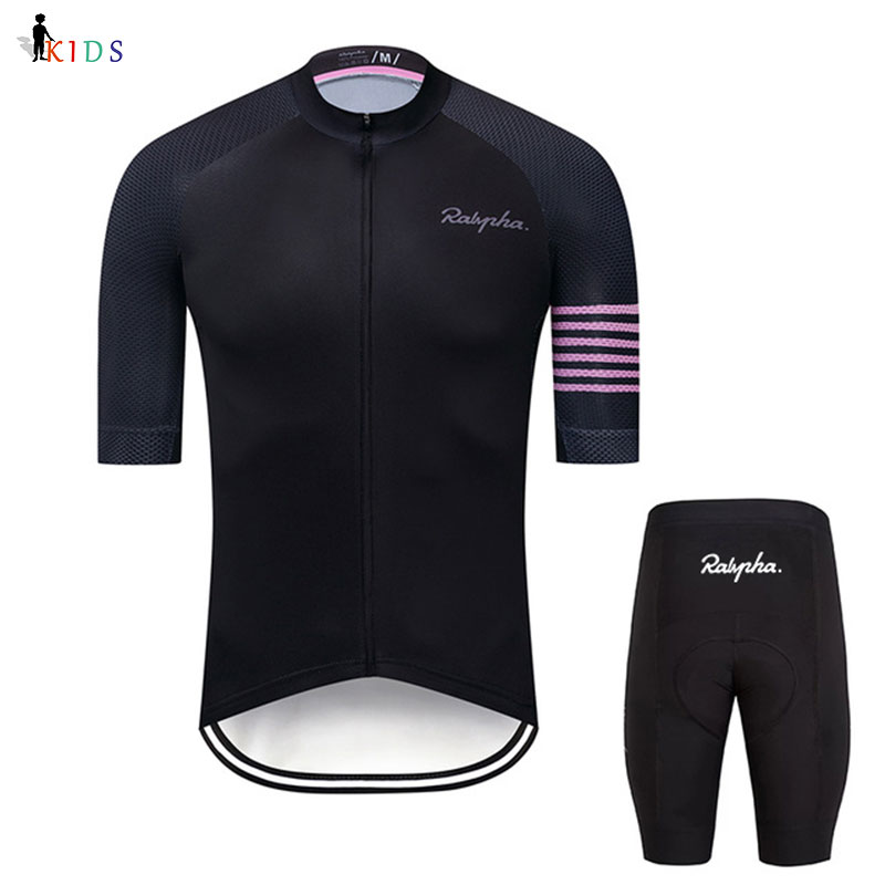 Raphaing Child 2020 Summer <font><b>Bike</b></font> Uniform Kids Cycling Jersey Mtb <font><b>Bike</b></font> <font><b>Wear</b></font> Short Sleeve Cycling Clothing Boys Cycling Jersey Sets image