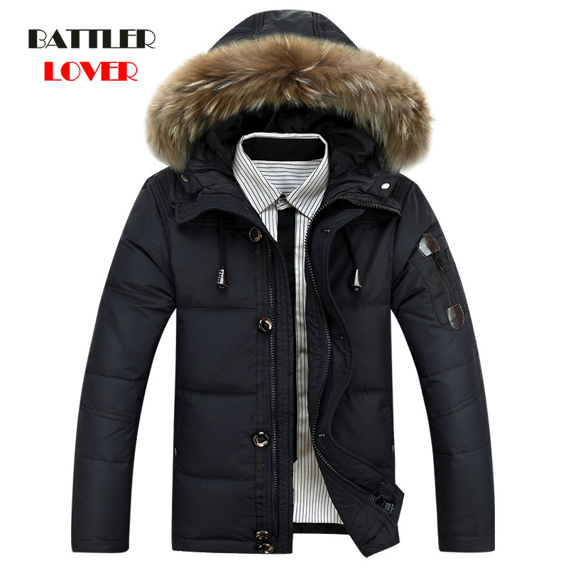 -40 Degree Cold Resistant Down Jacket Men Thick Warm 90% White Duck Down Hooded Natural Fur Collar Man Waterproof Mens Down Coat