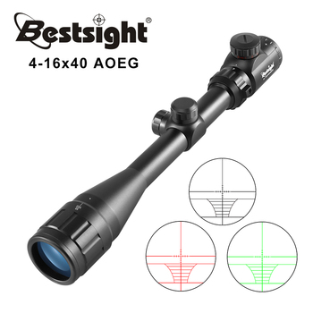 4-16X40 AOEG Optics Riflescope Red Green Illuminated Rifle Scope Sniper Gear For Hunting Scopes Airsoft Rifle Caza