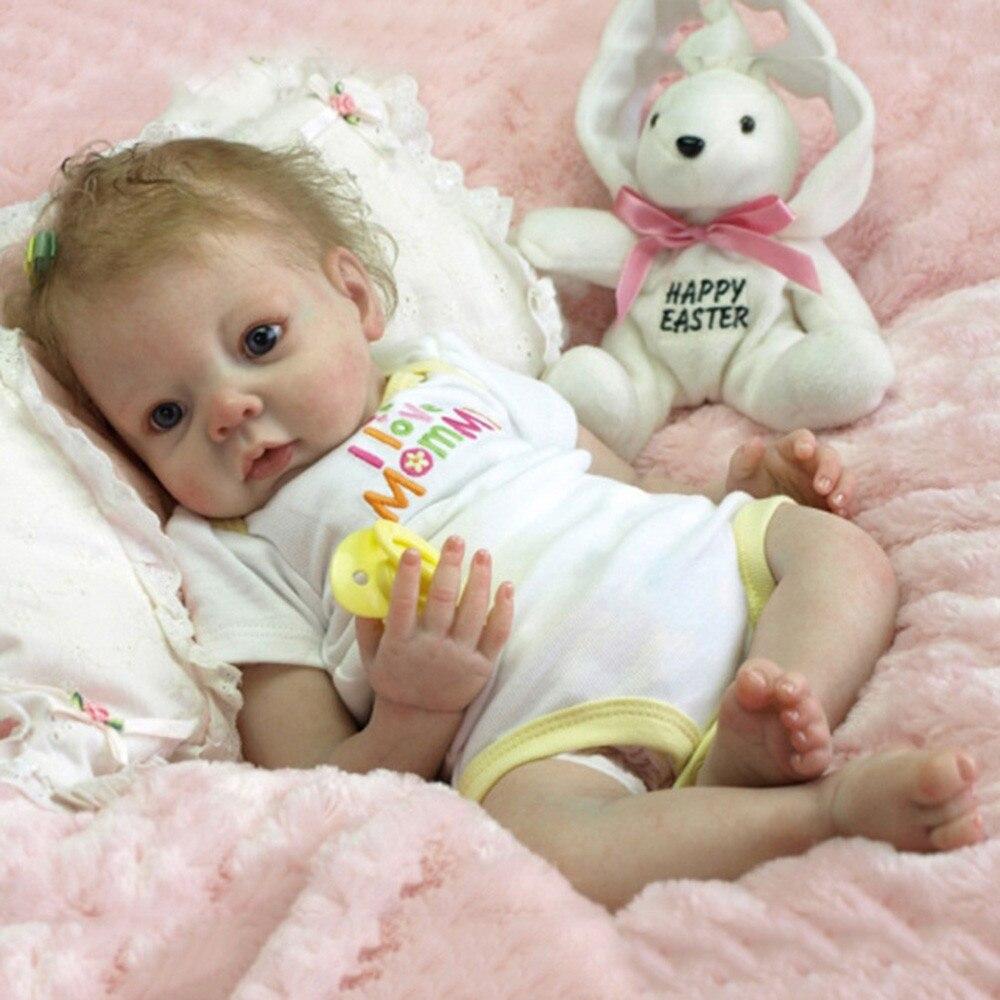 22/'/' Lifelike Newborn Dolls Full Body Silicone Handmade Reborn Baby Dolls Gift