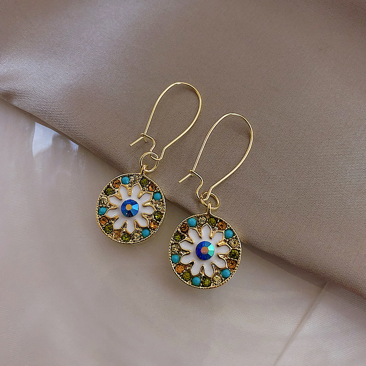 2019 New Arrival Acrylic Trendy Round Women Dangle Earrings Coloured Round Earrings Fashion Earrings For Women Statement