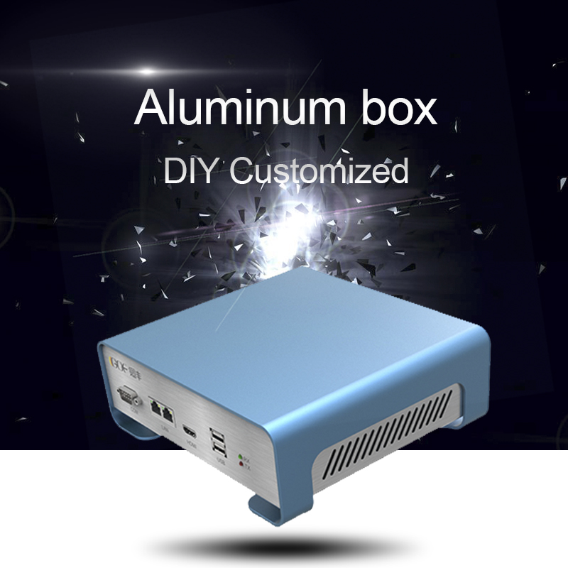 GOF-P01 208.4x71.5x189 mm (WxH-D) Extruded Aluminum Enclosure PCB Instrument Box DIY Electronic Project Case