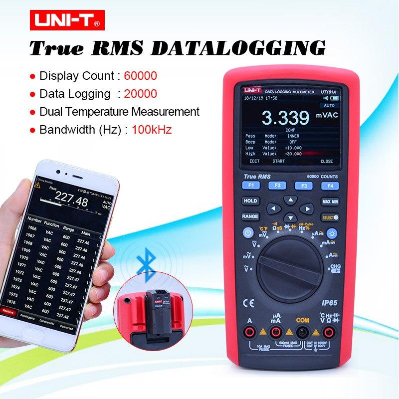 U NIT UT181A True RMS Datalogging Digital Multimeters DMM Емкостной Измеритель температуры с перезарядкой Li Battery EU Plug