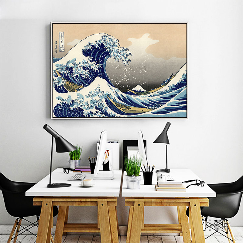 THE GREAT WAVE by KANAGAWA Home Wall Art Print Poster A4,A3,A2,A1