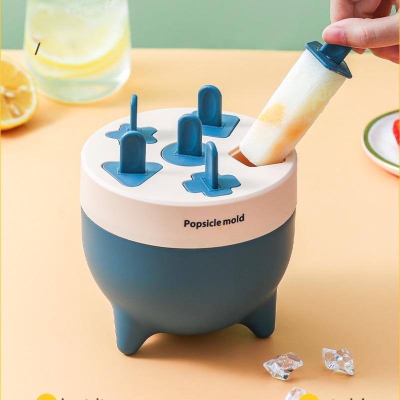 Новая форма для мороженого на палочке «сделай сам» для дома Эскимо Плесень Силиконовый 6-луночное мороженого на палочке плесень детская с р...