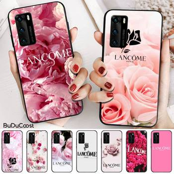 French Cosmetics Lancome Flower Phone Case For Huawei P20 P30 P20Pro P20Lite P30Lite Psmart P10 9lite image