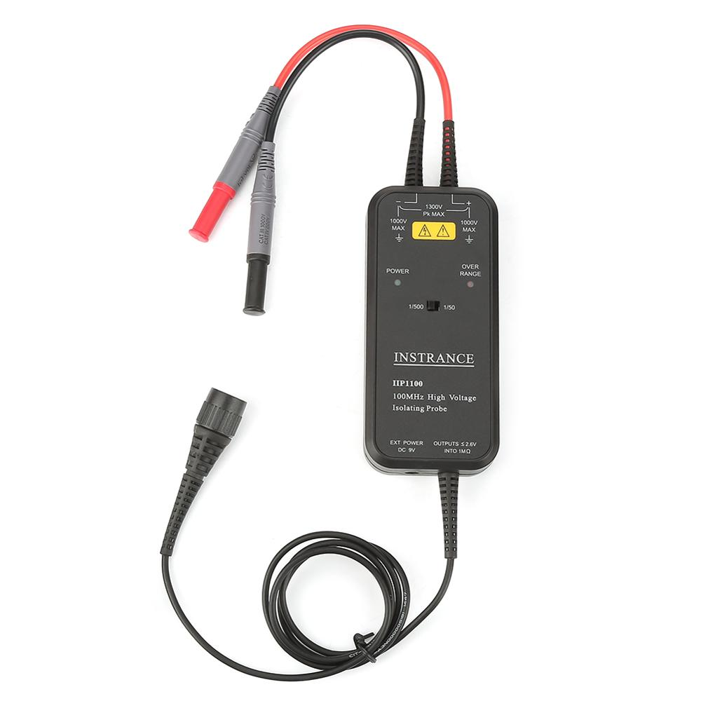 High Voltage Isolating Probe IIP1100 AC100-240V 100MHz High Voltage Differential Isolating Oscilloscope Probe