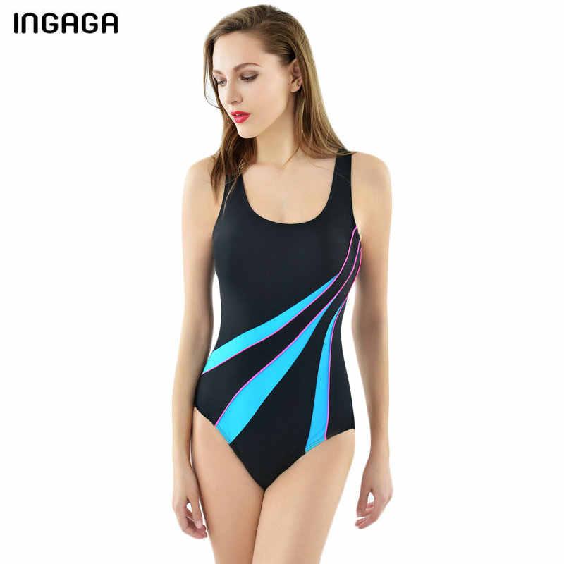 INGAGA 2019 спортивные купальные костюмы для женщин Цельный купальник конкурентный тренировочный купальный костюм с гоночной спинкой купальные костюмы