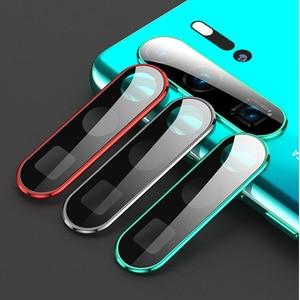 Image 5 - Temperli cam için Huawei onur 30 Pro Nova 7 Metal kamera Lens koruyucu halka ekran koruyucu P30 Pro P40 lite film len