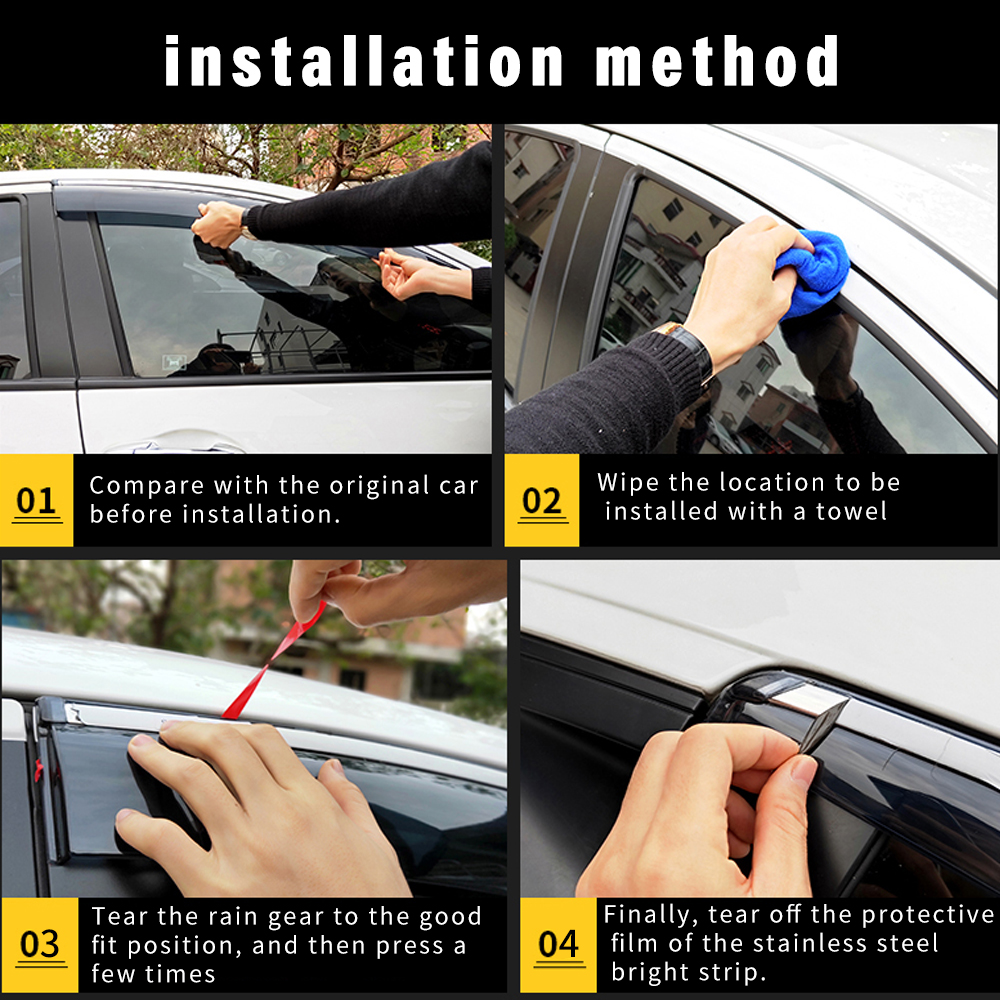For Mazda 6 II Wagon 2007-2012 Window Side Visors Sun Rain Guard Vent Deflectors