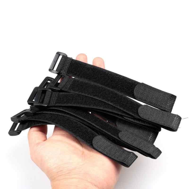 20pcs//Set Fishing Rod Tie Holder Strap Suspenders Fastener Loop Belts Kit Black