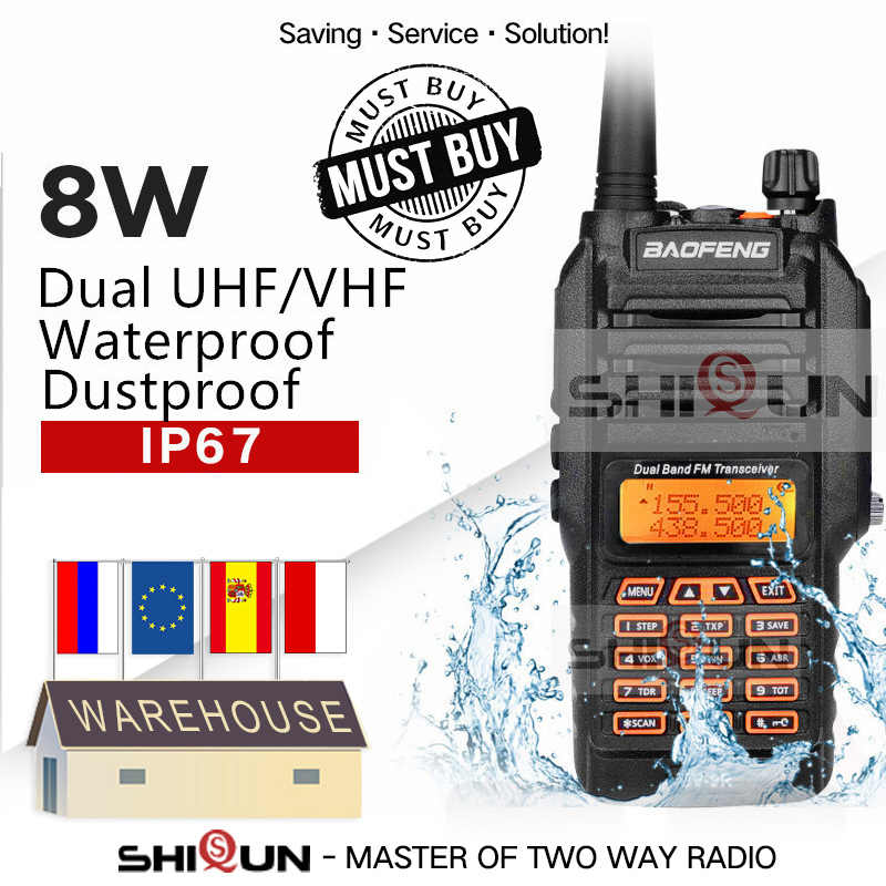 UV-9R IP67 Waterdichte Dual Band 136-174/400-520Mhz Ham Radio 10Km Baofeng 8W Walkie Talkie 10Km UV-82 UV-5R UV-XR Uv 9R Plus