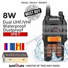 UV 9R IP67 Chống Thấm Nước Dây 136 174/400 520MHz Hàm Đài Phát Thanh 10 KM Bộ Đàm Baofeng 8W Bộ Đàm 10 KM UV 82 UV 5R UV XR UV 9R Plus
