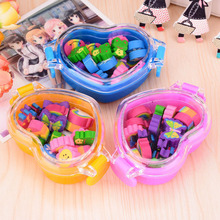 цена на 3 Box Novelty Butterfly Rubber Eraser Cute Animals Shape Eraser Primary School Student Prizes Promotional Gift Stationery Gift