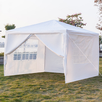 3 x 3m Portable Durable Four Sides Waterproof Tent with Spiral Tubes White For Home Use Outdoor Camping