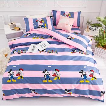 1 zestaw Disney kreskówka myszka miki czteroczęściowe łóżko czystej bawełny szczotkowane łóżko dziecięce materiały tekstylne układ pokoju dziecięcego zestaw pościeli tanie i dobre opinie Brak Arkusz Zestawy Kołdrę poszewka CN (pochodzenie) Poliester Bawełna 1 2 m (4 stóp) 1 5 m (5 stóp) 1 8 m (6 stóp)