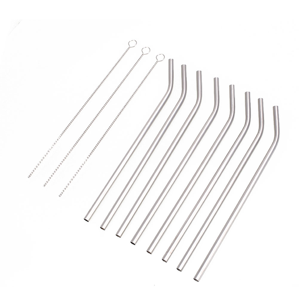 Steel Straws Straws+Brush Reusable Reusable Yetiparts 8pcs 8pcs Dringking Party Cleaner Juice Straw Drinking Durable Metal