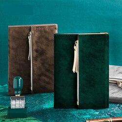 2020 pamiętnik piórnik tri-fold Portable B6 Velvet Office School akcesoria schowek torba podróżna dziennik stacjonarny prezent