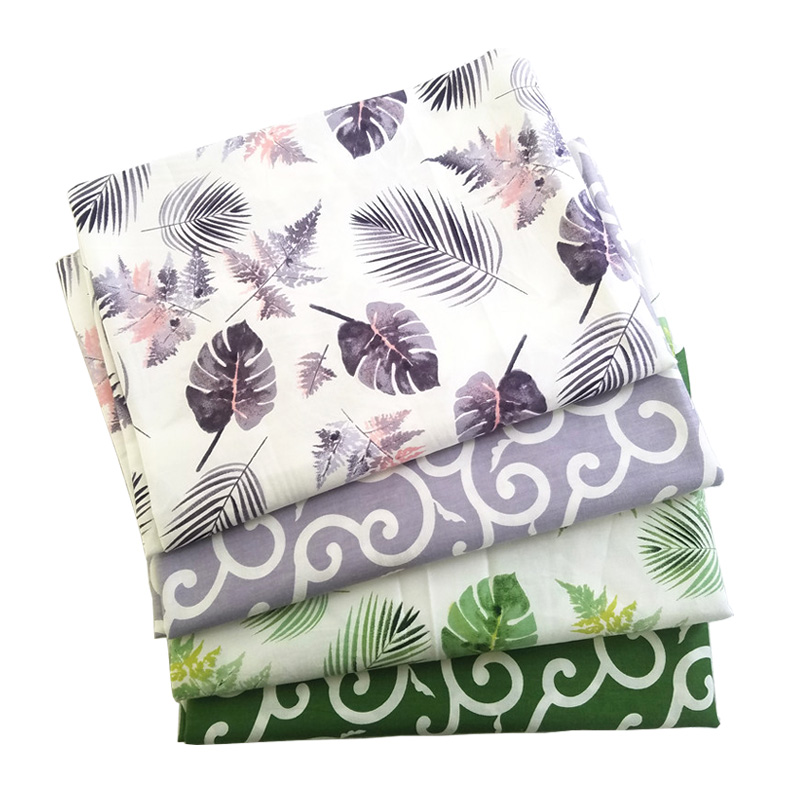 50*160CM Banana Leaf Printed Cotton Fabric Tablecloth Leaves Vine Fabric Home Pajamas Cotton Clothes Cotton Twill Surface