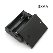 1Pcs lot Plastic 4 5V 3 AA battery cell holder box case compartment with on off