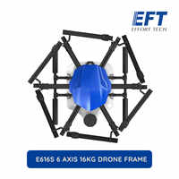 EFT New E616S 1628mm 16KG Wheelbase Flight Platform Waterproof Agricultural Spraying Drone 16L