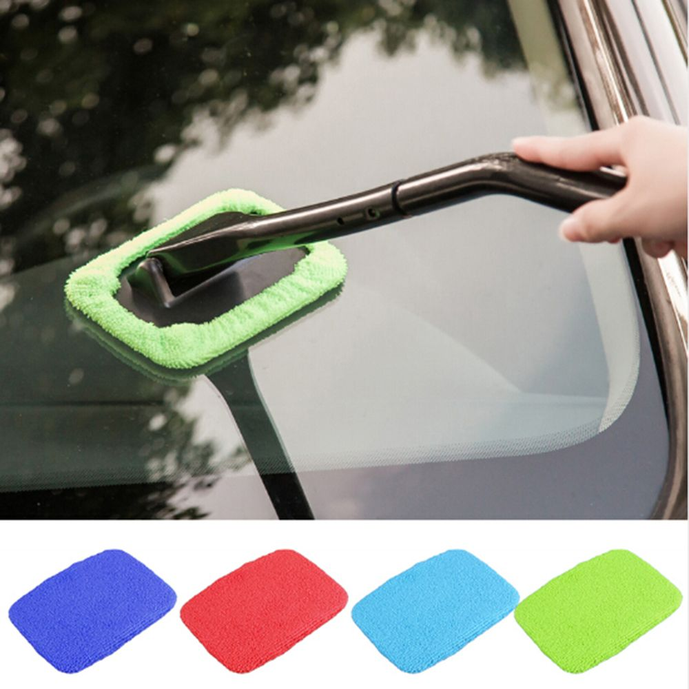 Handy Car Window Cleaner Microfiber Car Window Dust Fog Moisture Cleaner Wash Brush Windshield Towel Washable Car Cleaning Tool
