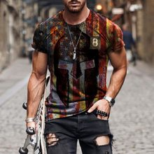 2021 verão camisa masculina casual gola o-pescoço streetwear harajuku roupas masculinas moda bandeira impressa de manga curta camiseta