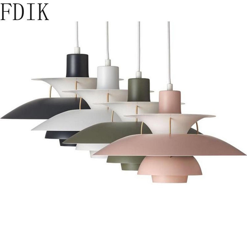 Danish Louis Poulsen E27 Pendant Lights Nordic Led Hanging Lamp For Living Room Restaurant Kitchen Vintage Decor Light Fixtures