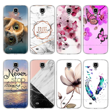 цена на Silicon Case for Samsung S4 Case i9500 Soft TPU Phone Case For Samsung Galaxy S4 Mini i9190 Cases Flower Back Cover coque bumper