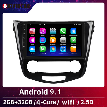 JOYINCAR Android 9.1 Car Radio Auto Stereo 2 Din for Nissan X-Trail J11 Qashqai Rouge multimedia 2013 - 2017 1024*600 GPS Naviga image