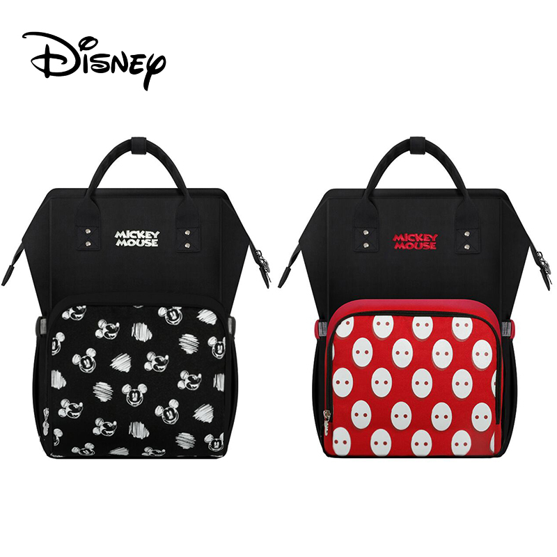 Disney Diaper Bag Backpack Baby Bags For Mom USB Travel Wet Nappy Boy Girl Diaper Organizer Mickey Mouse Changing Nappy Bag
