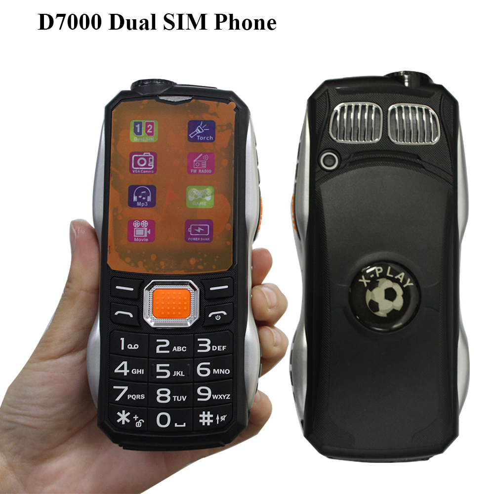 Cheapest Cellphone D7000 GSM Dual SIM Card Big Button Phones Preferential Multilingual Students Mobile Phone PK Guophone A6