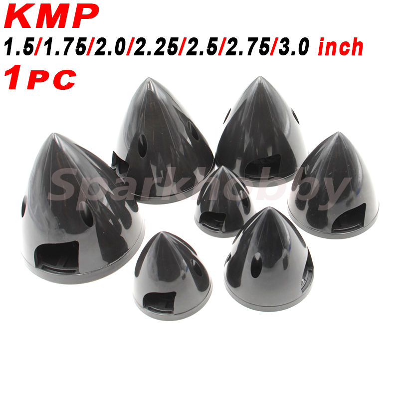 1PC KMP Black Plastic Propeller Spinner 1.5 1.75 2.0 2.25 2.5 2.75 3.0 Inch Optional For RC Quadcopter Airplanes Models Accs