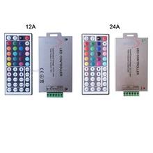 شحن مجاني DC12V 24V 12A 24A 44key الأشعة تحت الحمراء wireles البعيد Led RGB تحكم 44key IR باهتة ل 3528 5050 RGB led قطاع أضواء